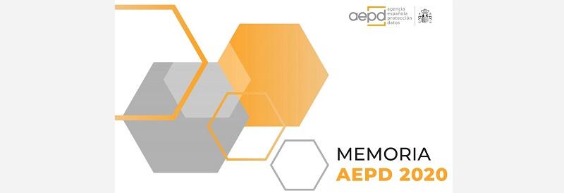 La Agencia Española de Protección de Datos publica su Memoria 2020